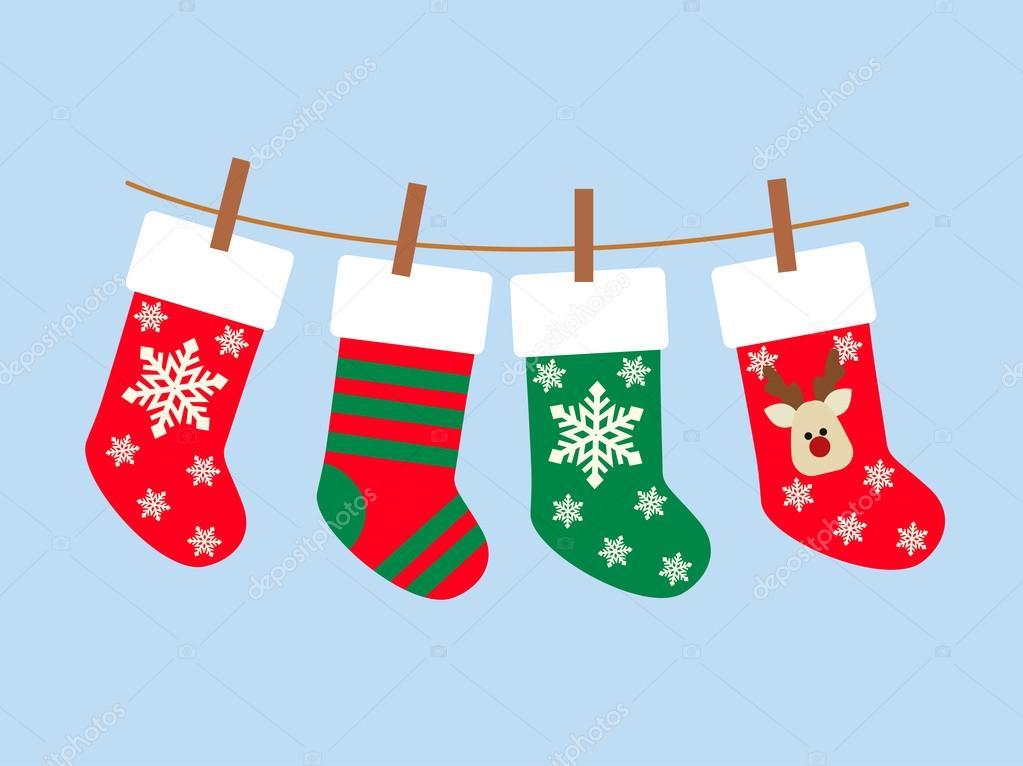 Vektor-Illustration: Weihnachten-Socken — Stockvektor © Alla16 #91149804