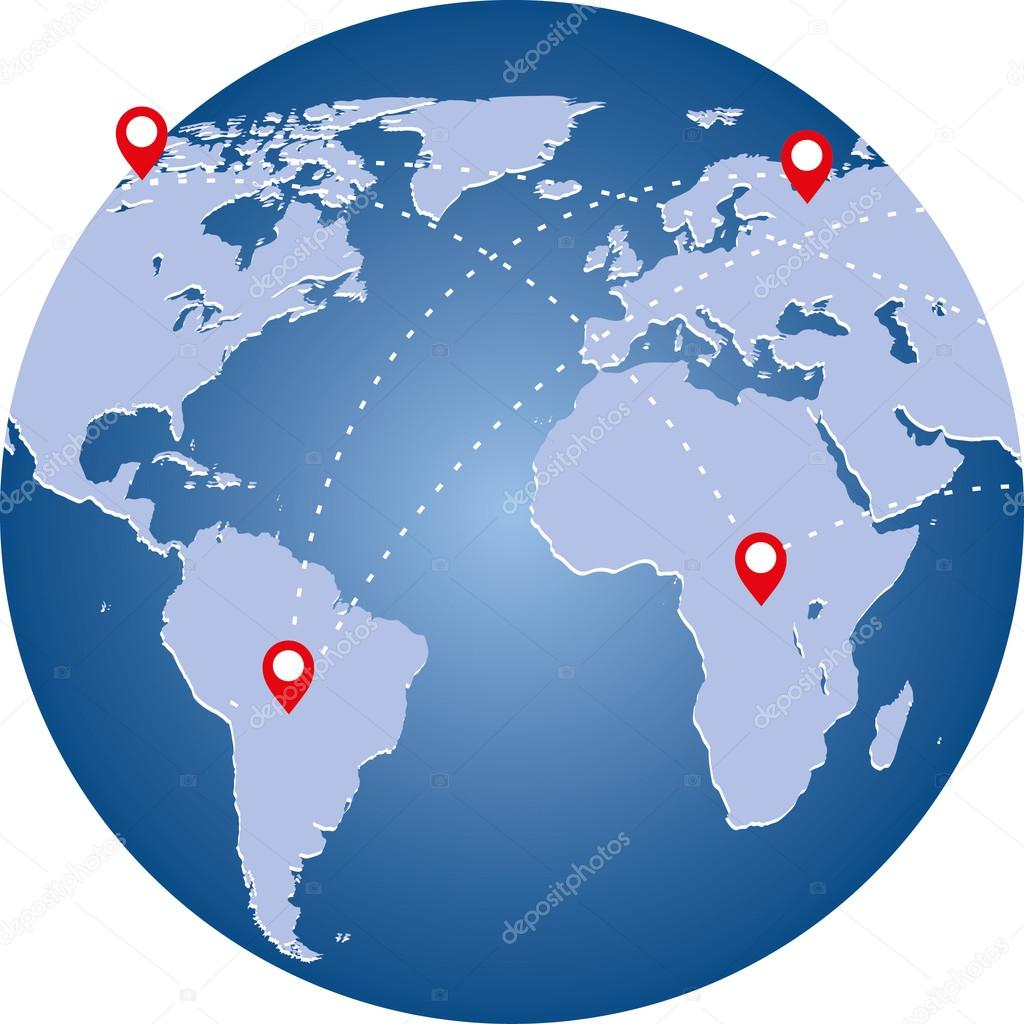 Planet image with world map and connection lines technology image planet image with world map and connection lines technology image of globe stock gumiabroncs Choice Image