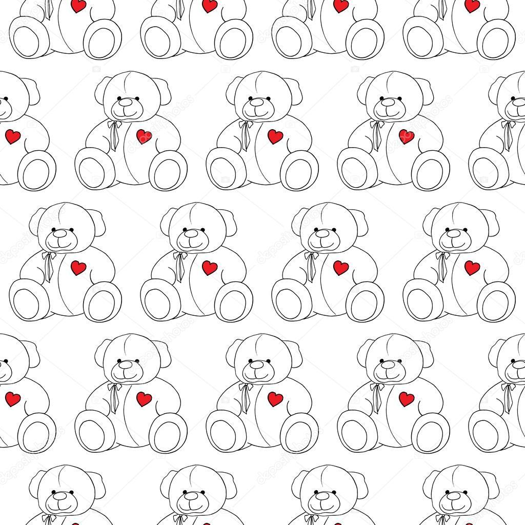 Vector de monocromo de patrones sin fisuras de dibujos animados ...