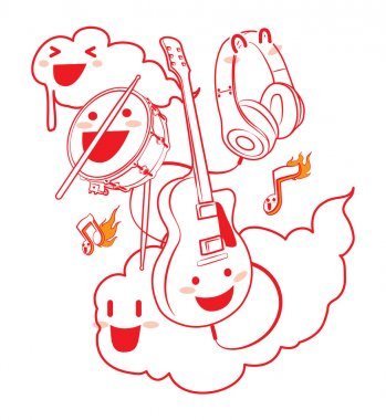 music festival logo vector lovely