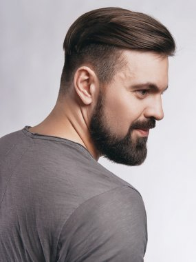 handsome hipster man with beard