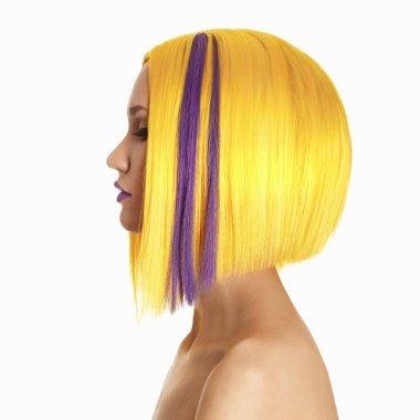 yellow hair color woman