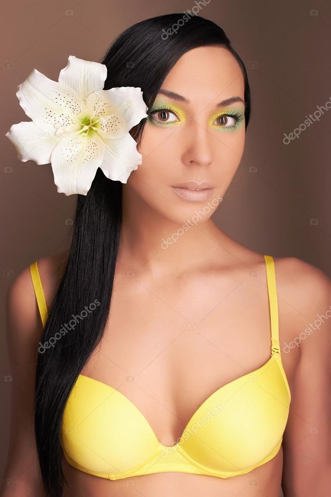 Gorgeous sexy hawaiian girl bikini Hawaiian Woman With Flower Sexy Girl In Bikini Stock Photo By C Photoagents 70553573