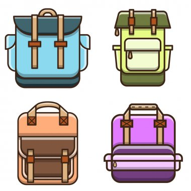 Bag vector illustration. Flat cartoon style suitable for web landing page, banner, flyer, sticker, card, children books and etc. icon