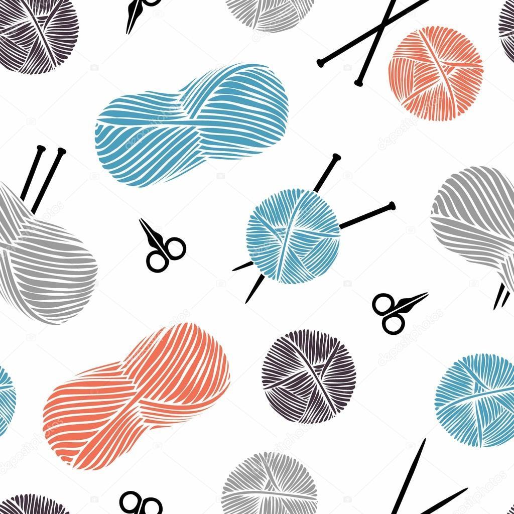 Dibujos: ovillos de lana | Fondo de dibujos animados lindo. Ovillos ...