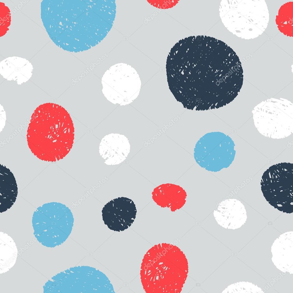 Sin costura patrones lindos - círculos nacieron líneas a mano ...