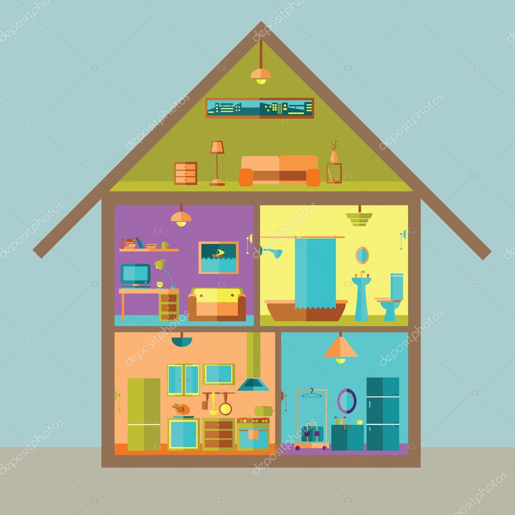 картинка трех этажного дома срисовать с комнатами вам