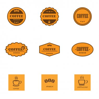 Set of retro coffee labels