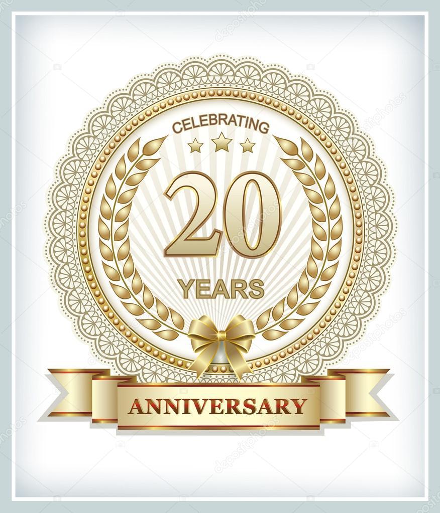20 års kort Årsdagen kort 20 år — Stock Vektor © seriga #100109728 20 års kort