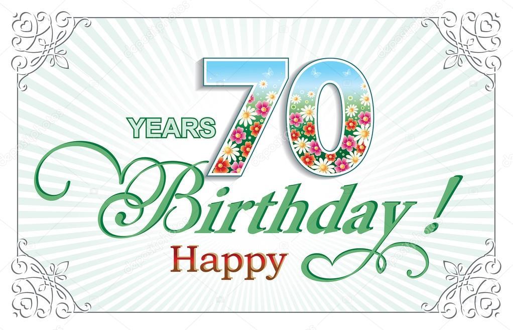 födelsedag 70 år Gratulationskort födelsedag 70 år — Stock Vektor © seriga #105134686 födelsedag 70 år