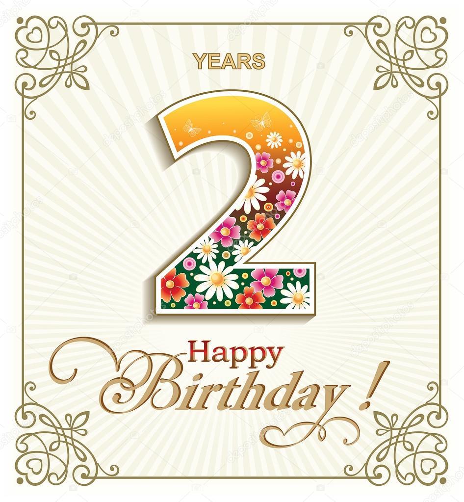 přání k 2 narozeninám Přání k narozeninám 2 roky — Stock Vektor © seriga #105921246 přání k 2 narozeninám