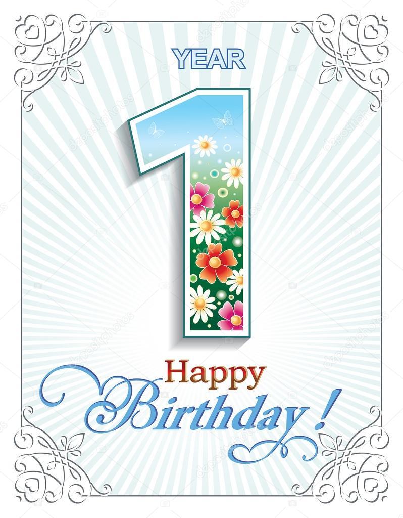 přání k narozeninám 1 rok Přání k narozeninám 1 rok — Stock Vektor © seriga #106700750 přání k narozeninám 1 rok