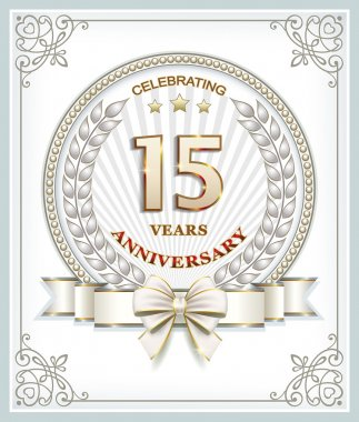 Anniversary card 15 years
