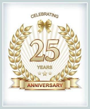 Anniversary card 25 years