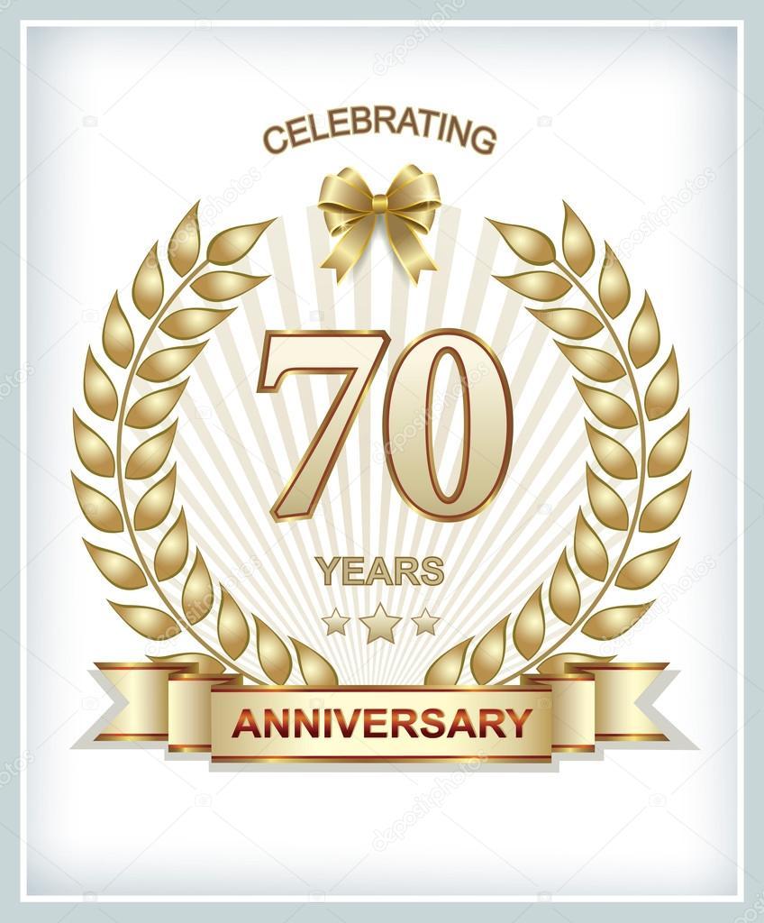 Tarjeta de aniversario 70 a os vector de stock seriga for Diseno de interiores anos 70