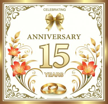 15 years wedding anniversary