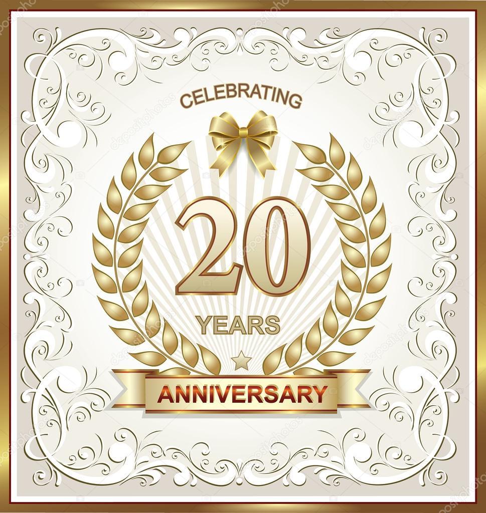 20ste Verjaardag Stockvector C Seriga 77346478
