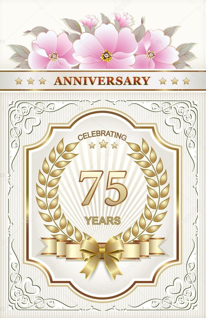 grattis på 75 årsdagen Grattis på födelsedagen 75 år — Stock Vektor © seriga #77346548 grattis på 75 årsdagen