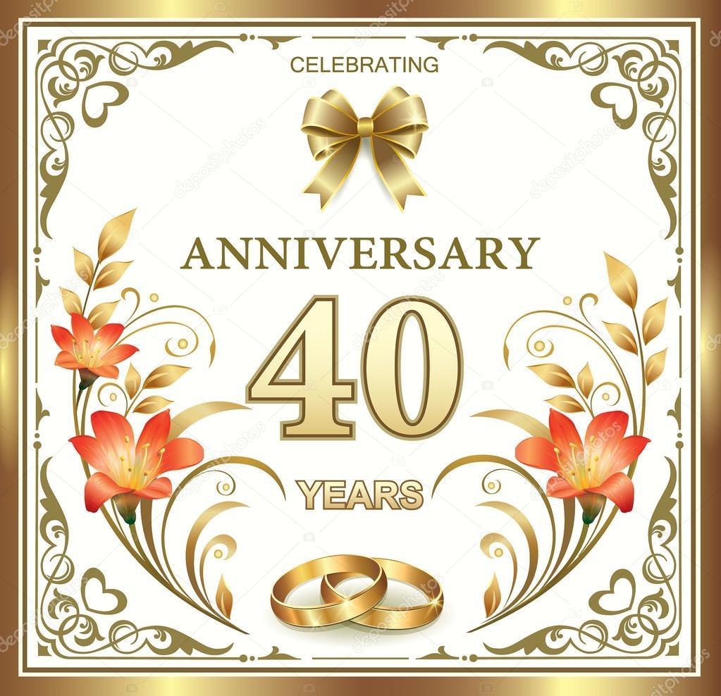 Auguri Quarantesimo Matrimonio : Esimo anniversario di matrimonio vp regardsdefemmes