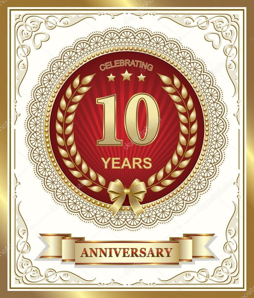 Joyeux Anniversaire 10 Ans Image Vectorielle Seriga C 79608116