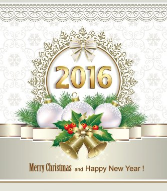 Happy New Year 2016 Christmas Decorations
