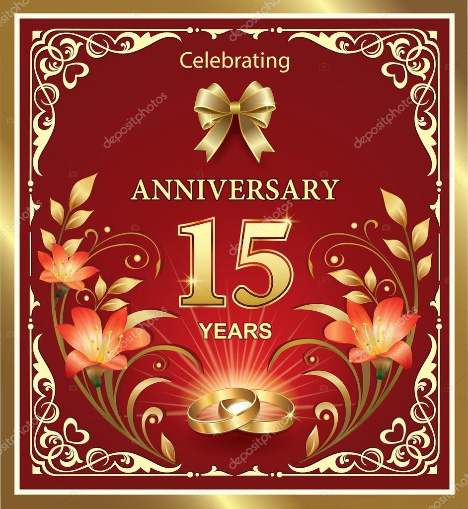 Anniversario Di Matrimonio 15 Anni.Wedding Anniversary 15 Years Stock Vector C Seriga 82147612