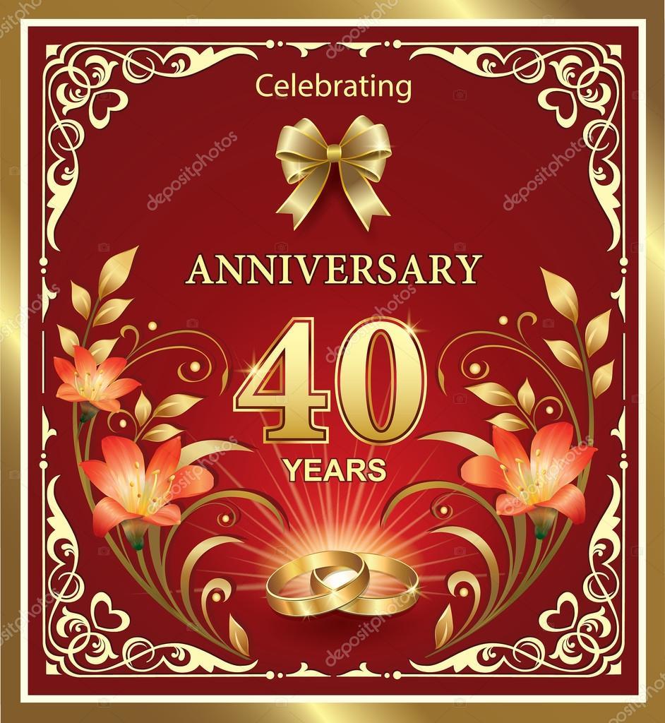 bröllop 40 år Bröllop årsdagen 40 år — Stock Vektor © seriga #95958506 bröllop 40 år
