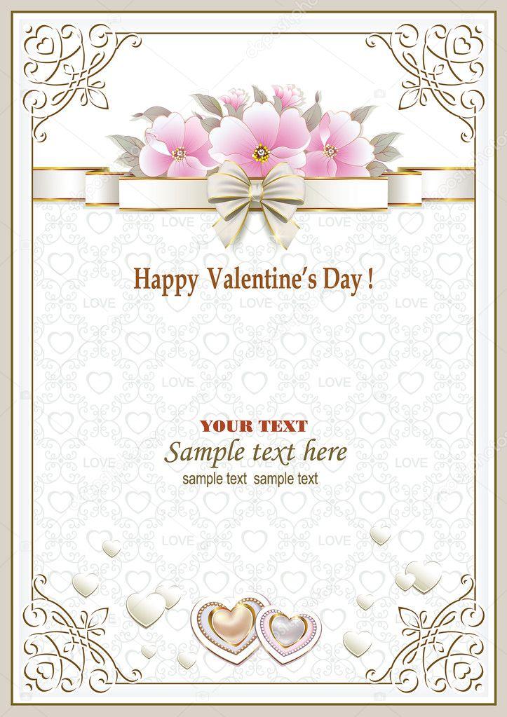 Tarjeta de felicitación en un marco con un adorno y flores para el ...