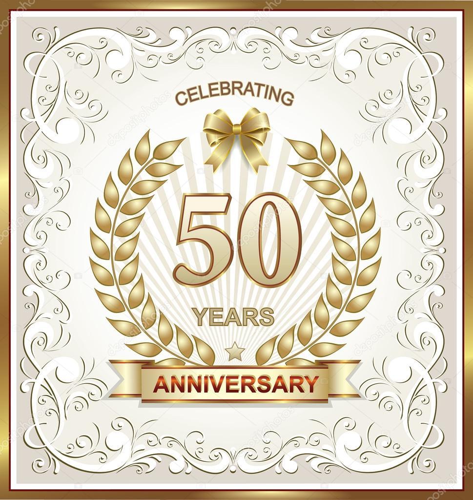 Tarjeta de aniversario de 50 años — Vector de stock © seriga #96008640