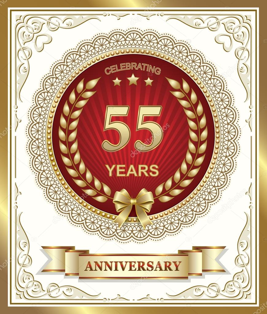 Hedendaags Verjaardag card 55 jaar — Stockvector © seriga #97618054 EL-31