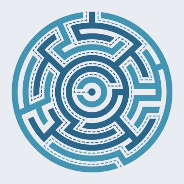 Circle maze vector illustration