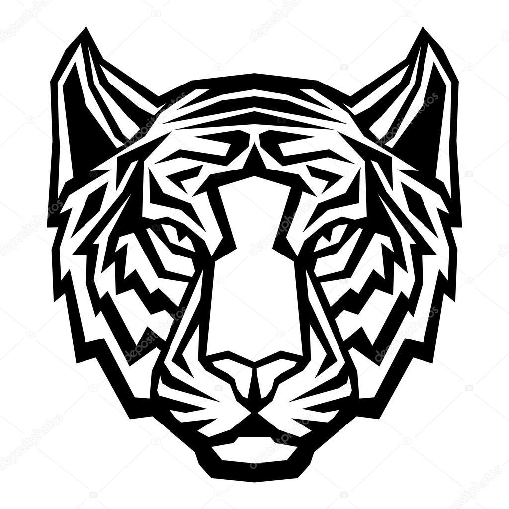 t u00eate de tigre mascotte du logo sur fond blanc image Bulldog Mascot Clip Art Bulldog Mascot Logos