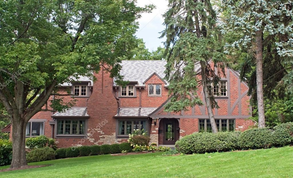 Brick English Tudor Home
