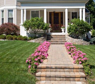 Flower-lined Sidewalk