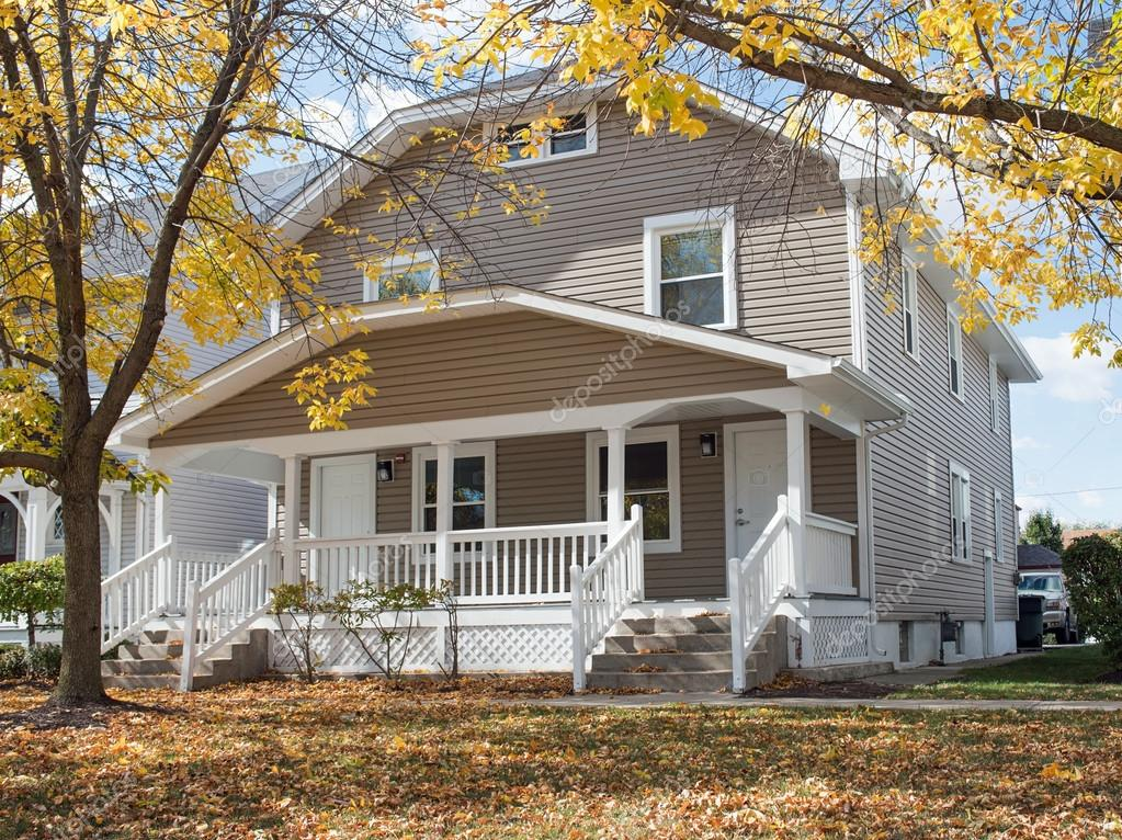 Duplex House in Fall