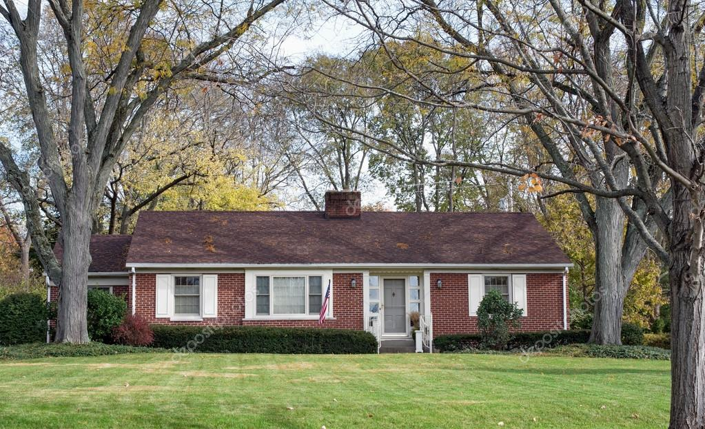 Brick Ranch House in Wooded Setting