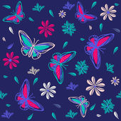 Photo Seamless pattern with butterflies