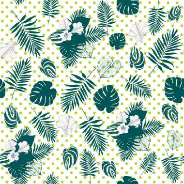 Tropical geometric pattern.