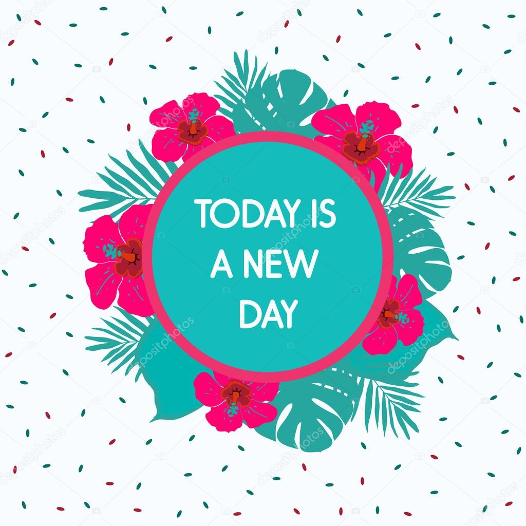 Today Is A New Day Stock Vector Sunbery 68470031