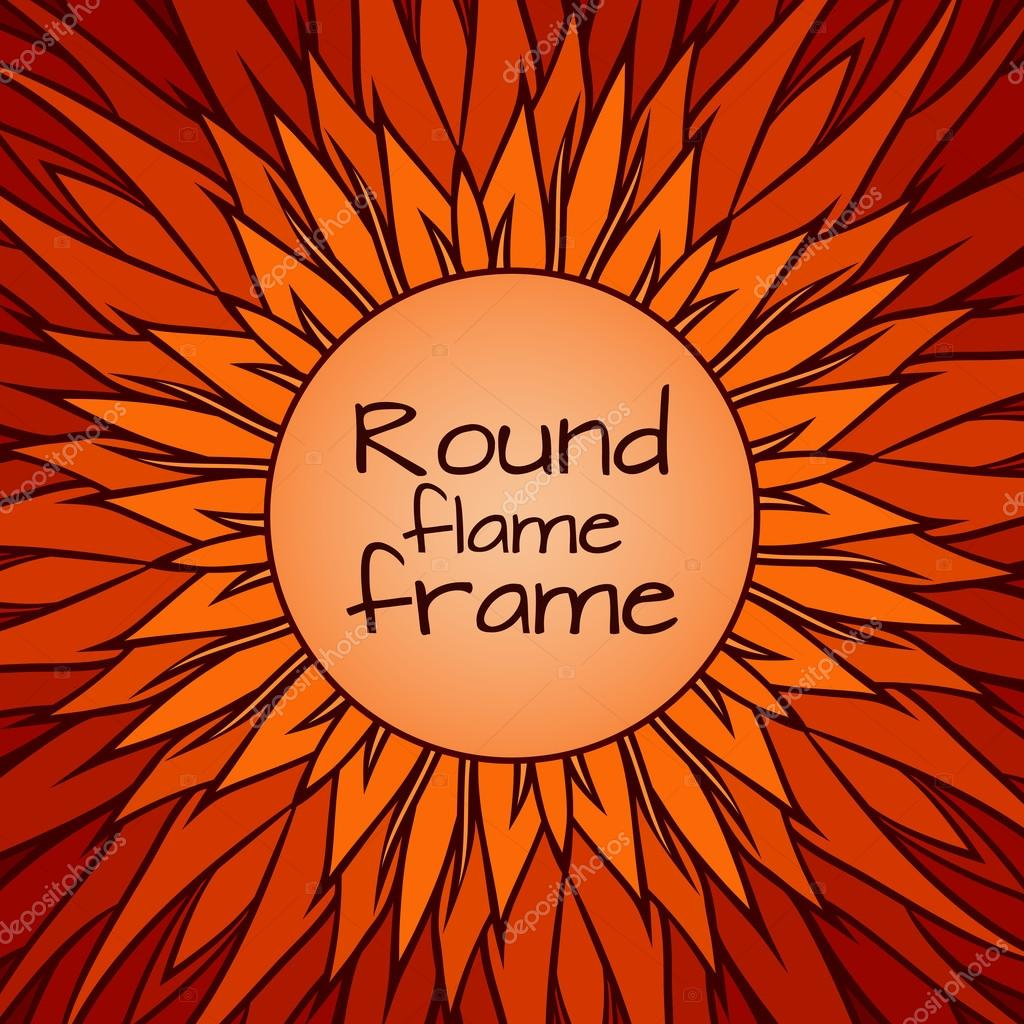 Flames Template | Template Cover With Doodle Flames Vector De Stock C Veleri 107702910