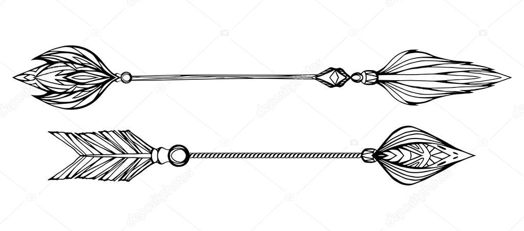 Conjunto De Flechas Com Ponta Com Padrão De Boho