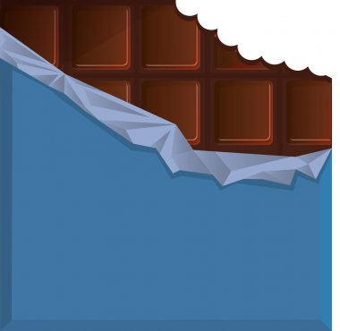 bite chocolate in blue packaging