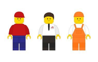 Lego erkekler farklı renklerde