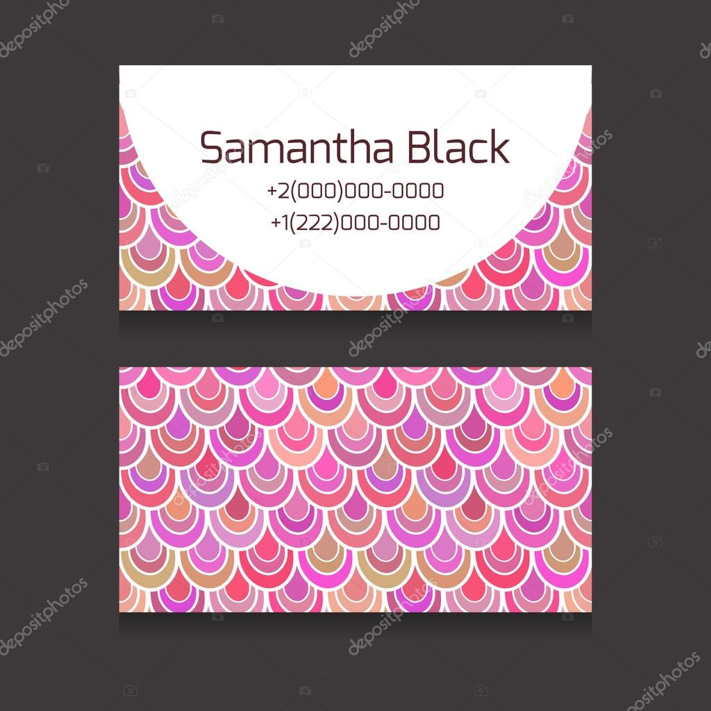 template two sided business cards stock vector