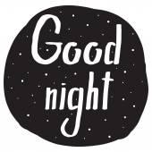 Fotografie Handschrift mit dem Wunsch Gute Nacht