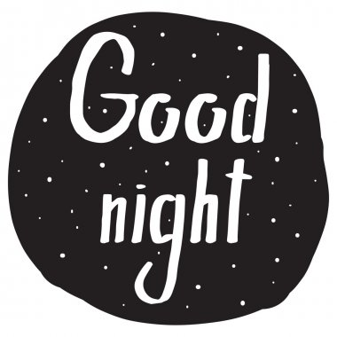 Handwriting font with a wish Good night