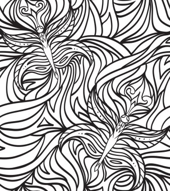 Seamless doodle pattern