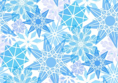pattern with transparent snowflakes