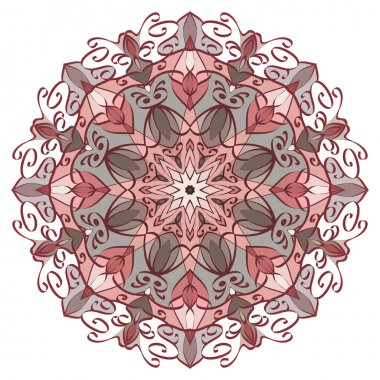 Vector Mandala in pastel colors