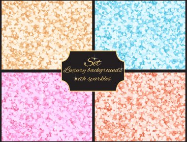 Set of multicolored luxury background